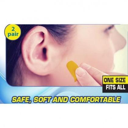 SILENT JUNCTION EARPLUG SAFE SOFT COMFORT DISPOSABLE FOAM NOISE EARPLUGS SLEEP STUDY SPORTS WORK PROTECTION EAR PLUG 30 DECIBELS 2 PAIR WIRELESS EAR PLUGS