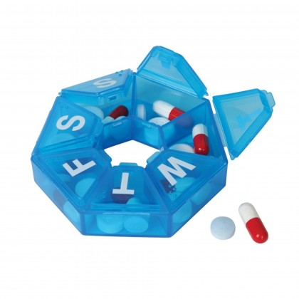 EZY DOSE 7 SIDED PORTABLE WEEKLY PILL PLANNER ORGANIZER BOX