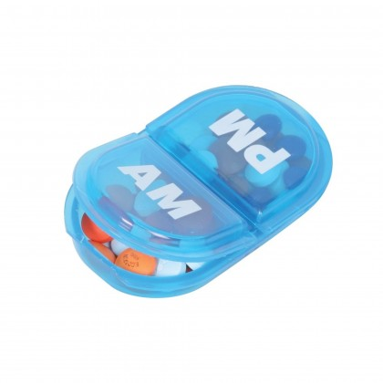 EZY DOSE DAILY AM PM PILL PLANNER CONTAINER ORGANIZER BOX